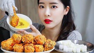황금올리브닭다리 체다치즈스프 리얼사운드먹방  / Fri…