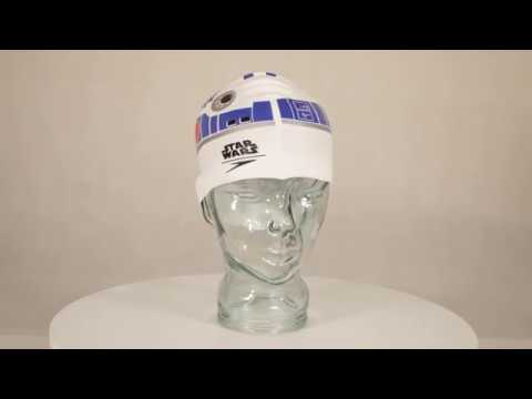 03649e9f33f Speedo Senior Star Wars Slogan Swimming Cap R2D2 - YouTube