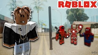 WIE EIN GANGSTER IN ROBLOX - ROBLOX THE STREETS PT.3 *SUPERHEROES*