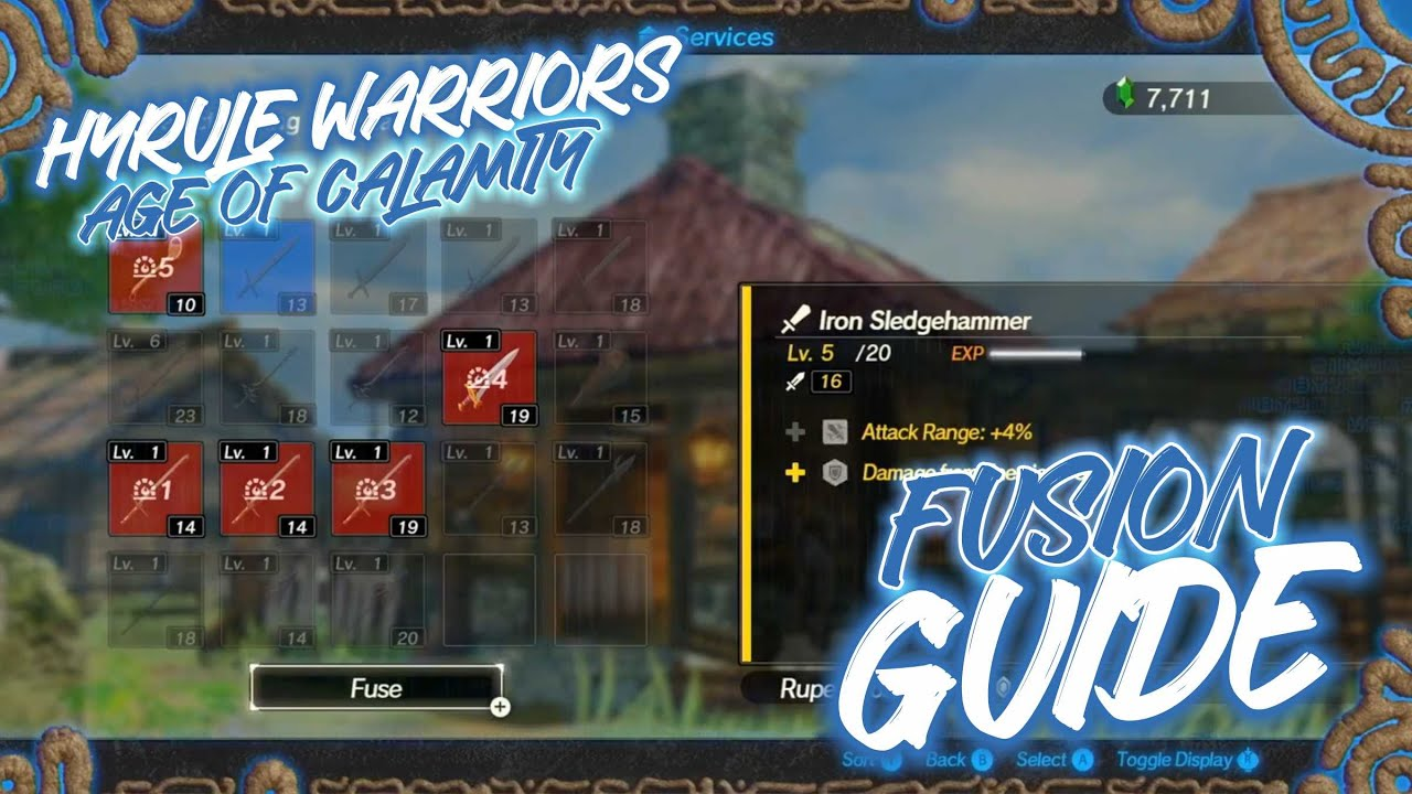 Hyrule Warriors Age Of Calamity Weapon Fusion Guide Youtube