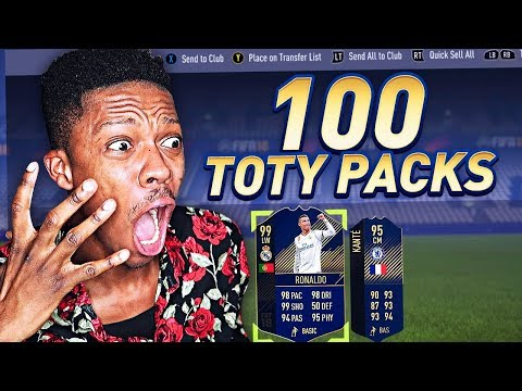 THE BIGGEST TOTY PACK OPENING EVER!! 100 TOTY PACKS! - FIFA 18 TEAM OF THE YEAR