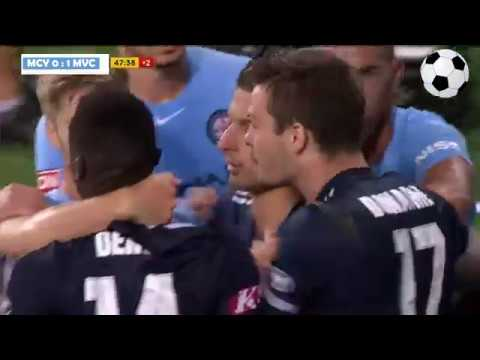 Melbourne City vs Melbourne Victory - 1:2 - 02/03/2018 - All Goals & Highlights HD - Round 22