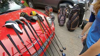 WE WENT TO A COMMUNITY GARAGE SALE IN A RICH GATED GOLF COURSE COMMUNITY