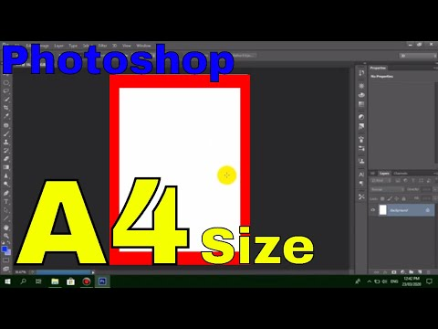 How to Create a A4 Size on Photoshop