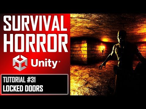 How To Make A Survival Horror Game - Unity Tutorial 031 - LOCKED DOOR + KEY thumbnail