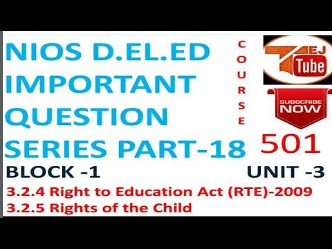 NIOS D.EL.ED IMPORTANT QUESTION SERIES PART-18 Free Online Education Books College Degree |TEJ TUBE