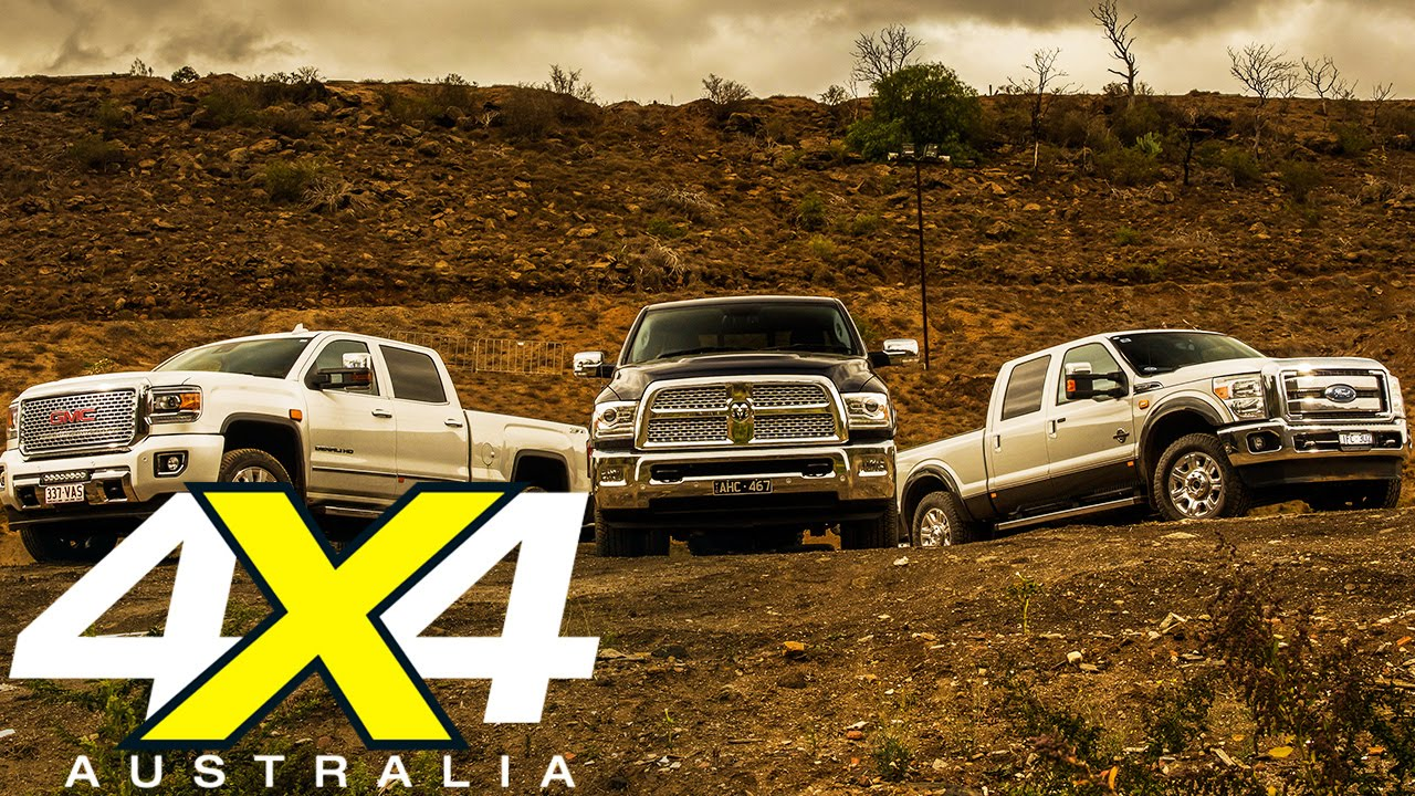 American Pickup truck comparison  Road test  4X4 Australia