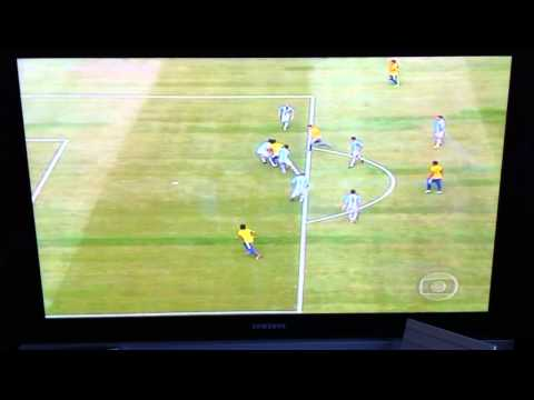 TV Humor: Brazil Goal with 80s sound effects & graphics - Brasil vs Argentina