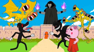 Siren Head Gold, Piggy, Cartoon Dog And Crazy Cartoon Dog - Roblox Piggy Animation  - GV Studio