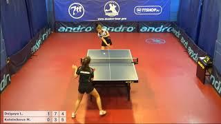Настольный теннис матч 220918 10  Долгая Лилиана  Котельникова Мария