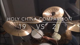 "19"" vs 21"" - Sabian AA Holy China Cymbal Comparison"