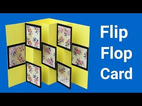 How to make Flip Flop Card | Friendship Day Card |