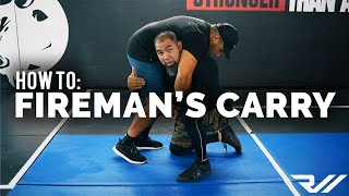 How to: Fireman's Carry FROM THE FLOOR (Ranger Roll and Bone Pick Up) // RealWorld Tactical