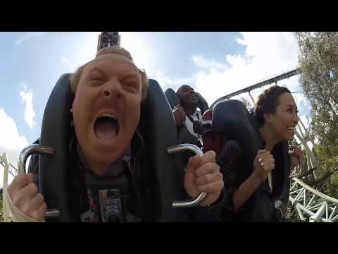 Keith Lemon and Myleene Klass ride a Roller Coaster