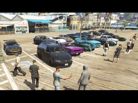 Grand Theft Auto V Online (360) | Street Car Meet Pt.15 | Drag Spot Hunting, Hangout, Cops & More