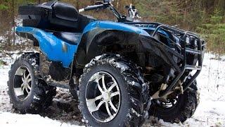 Yamaha Grizzly 700, тест драйв и вся правда о квадроцикле от владельца(Обзор квадроцикла Yamaha Grizzly 700. Тест драйв техники, ураганим по лесам. Владелец квадроцикла рассказывает..., 2015-12-10T17:37:15.000Z)