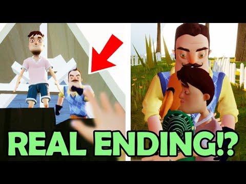 SAVING The Neighbors KID! The REAL Ending Of Hide & Seek!? (Hello Neighbor Hide And Seek NEW Ending)