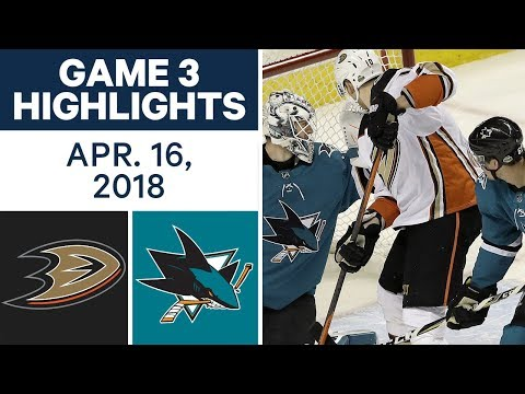 NHL Highlights | Ducks vs. Sharks, Game 3 - Apr. 16, 2018