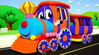 The Wheels on the Train Go Round And Round Nursery Rhyme for Kids from SmartBabySongs