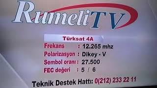 Rumeli TV nin yeni Frekansı 29.03.2018