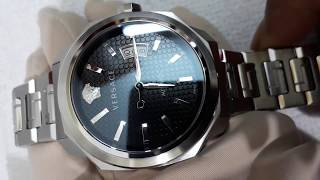 JBShop - Versace VAG020016 Men's 'Dylos' Automatic Stainless Steel Casual Watch