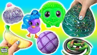 Cutting Open Green Monkey Squishy Toy! Sparkle Jelly Squishy From Japan! Doctor Squish