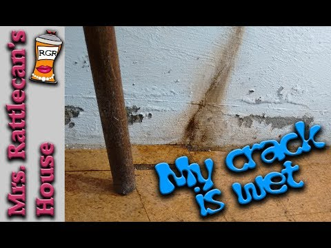 fixing a foundation crack | MRS. RATTLECAN'S HOUSE