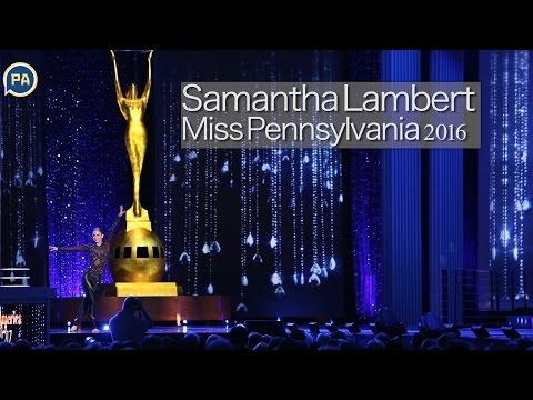Miss Pennsylvania 2016 Samantha Lambert performs an acrobatic dance