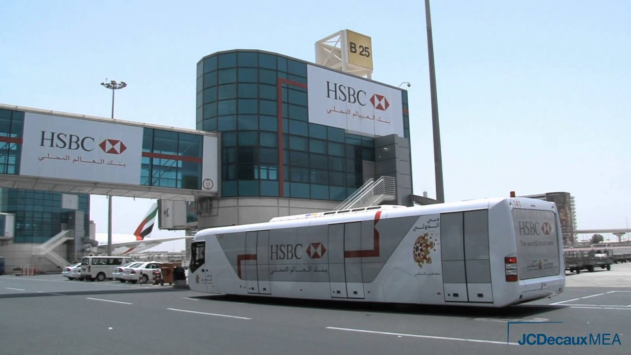 JCDecaux UAE : HSBC Jet Access Fleet Advertising Campaign in Dubai