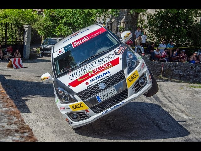 Librada Rallye Ourense 2014 – HD – Close Call – Rally car on two wheels – SJ4000 Camera