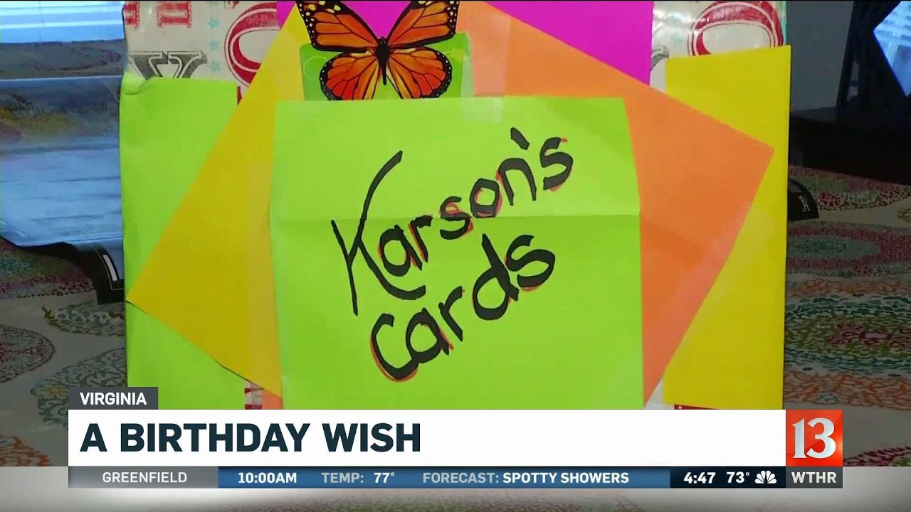 5 Year Old Boy Asks For Birthday Cards