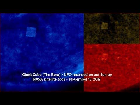 nouvel ordre mondial |  Giant Cube (The Borg) - UFO recorded on our Sun by NASA satellite tools - November 15, 2017