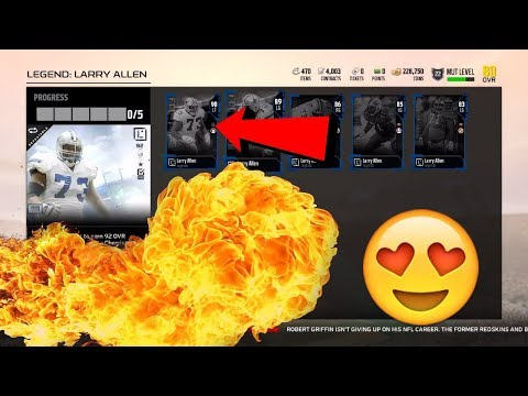 92 LARRY ALLEN AND 92 RODNEY HARRISON! HOW TO GET 3 FREE ELITE! MADDEN 18 ULTIMATE TEAM PACK