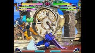 MvC2 Online PC With DEMUL..  Silent Guy VS FC: CHUN LI