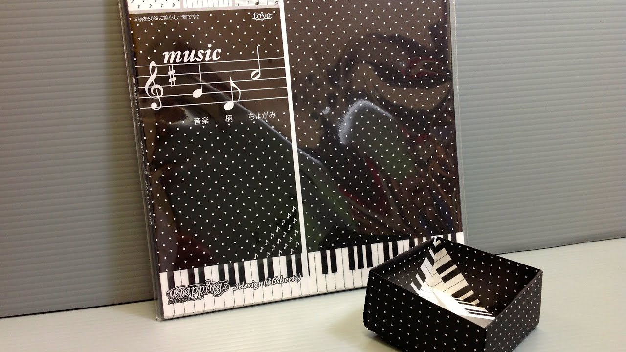 toyo music notes and piano chiyogami origami paper