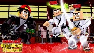 ROBLOX - PLAYING WITH FANS IN THE *NEW* NINJA SIMULATOR!!
