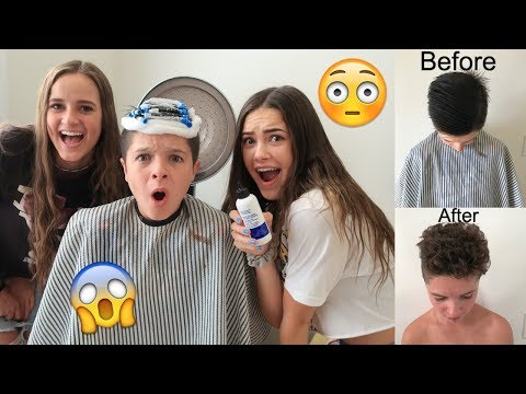 Brock gets a CURLY perm!!! 😱 | Brock and Boston
