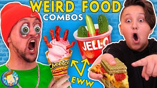 EATING WEIRD FOOD COMBINATIONS ~ What Taste Good/Bad? (FV FAMILY x INSTAGRAM FANS)