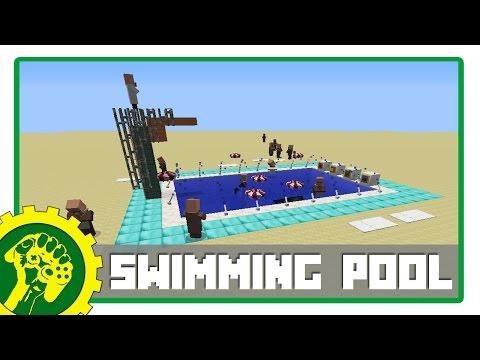 Minecraft Tutorial - Membuat Kolam Renang Modern | Swimming Pool