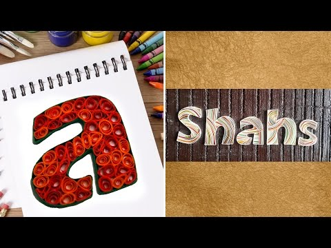 How To Make Personalized Name Plates With Quilling Swirls | DIY Quilled Paper Letter | Home Decor