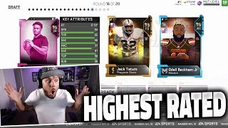 HIGHEST RATED DRAFT!! 99 OVERALLS - Madden 19 Draft Champions