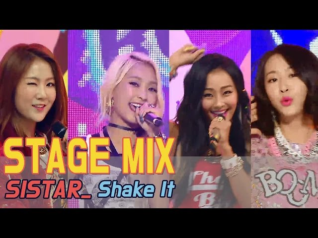 [60FPS] SISTAR - Shake It ????(Stage Mix) @Show Music Core