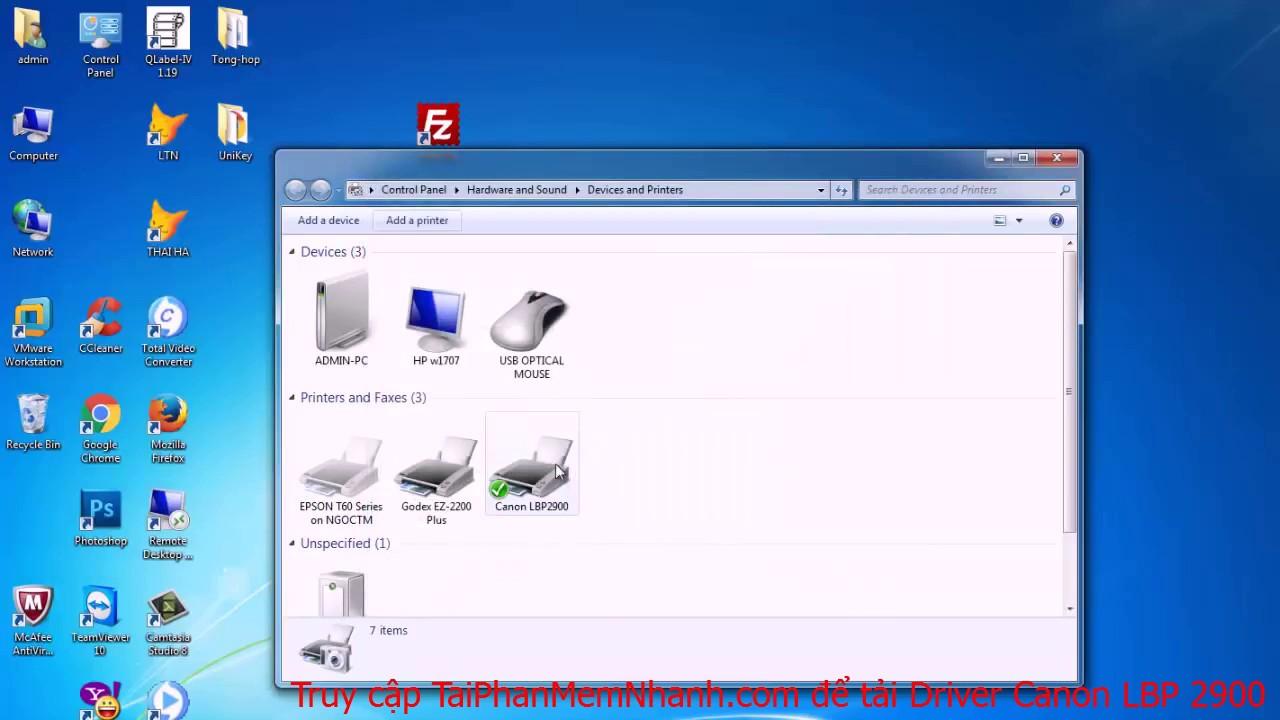 Cách Cài Đặt Máy In Canon LBP 2900/2900B không cần đĩa CD