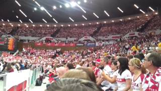 Liga Światowa Spodek Polska - Finlandia 02/06/2012 - fala