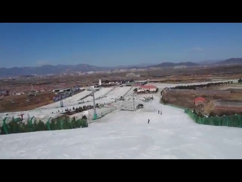 Snow Skiing Beijing China Nanshan
