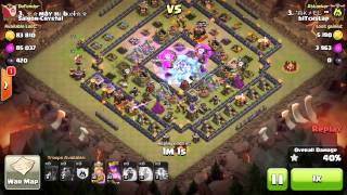 Clash of Clans | TH10 | 3 stars | penta lavaloon attack strategy