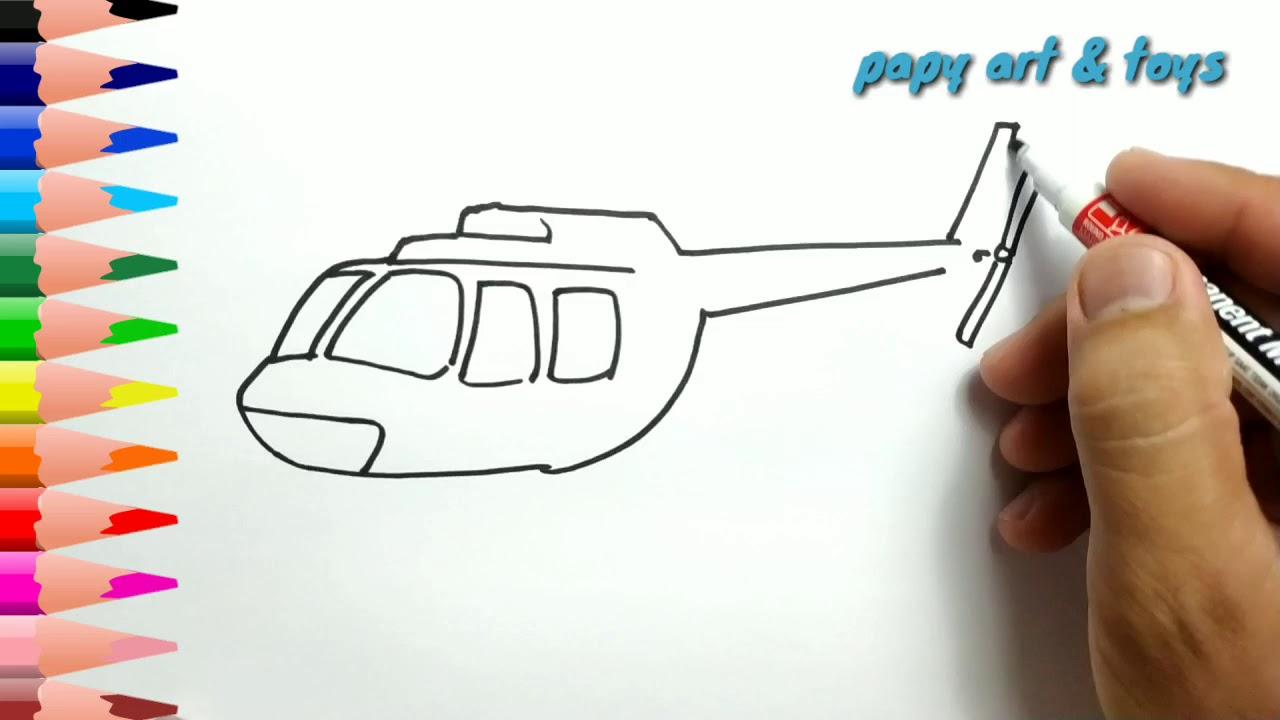 AJAIB Belajar Cara Menggambar HELIKOPTER Mewarnai Kartun Dengan Mudah Anak Indonesia Menggambar