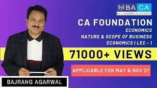 CA Foundation | Paper 4 | Ch 1 | Nature and Scope of Business Economics | Lecture 1