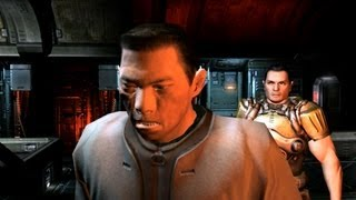 Doom 3 BFG Edition PC intro and gameplay of the first mission