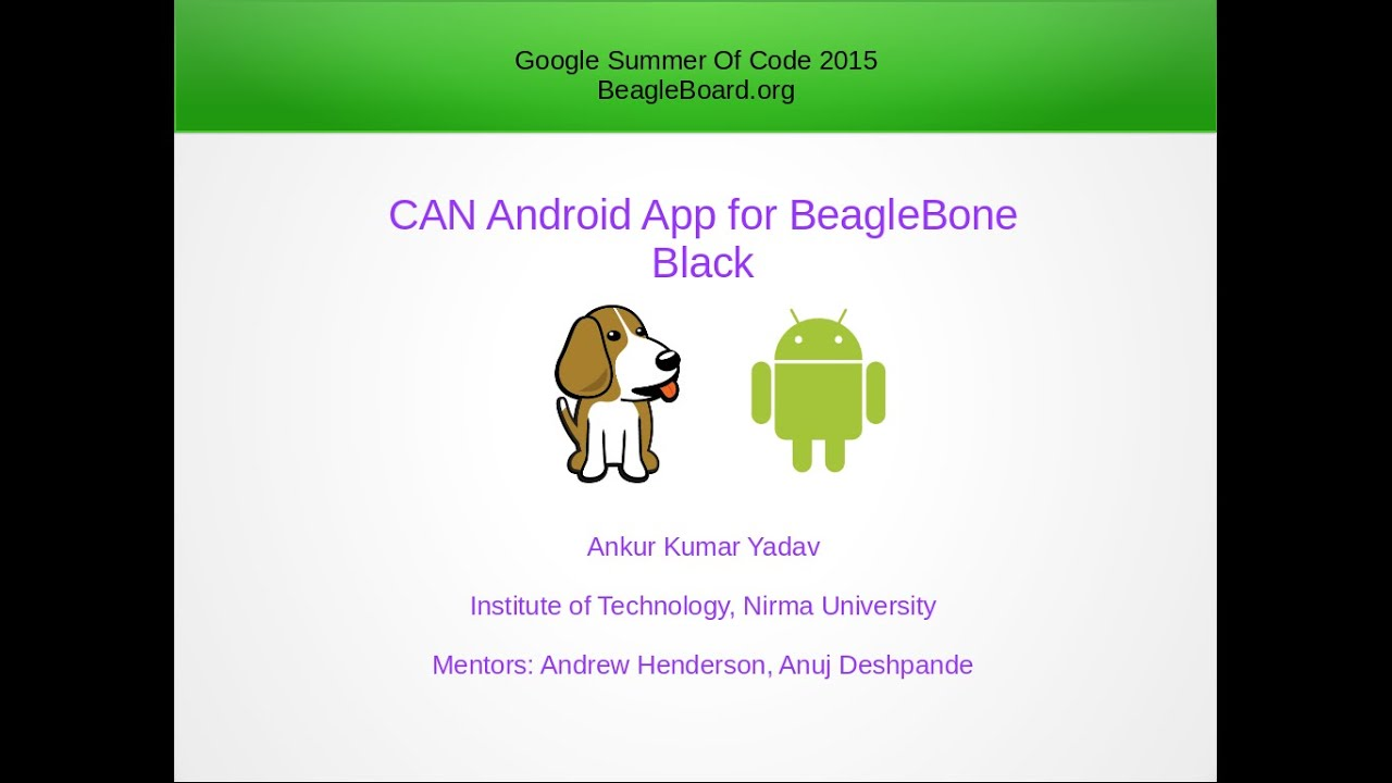 CAN Android App for BeagleBone Black